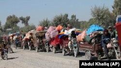 بیجا شدن هزاران خانواده در نتیجه جنگهای اخیر در هلمند