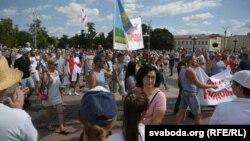 Акцыя салідарнасьці, Горадня. 15 жніўня 2020 году