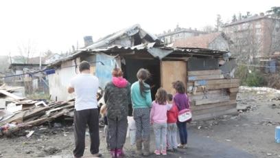 Romsko naselje Mali Leskovac, 9 januar 2020.