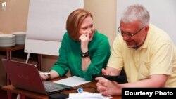 Мелани Бачина и Павел Шеремет