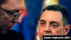 Ministar odbrane i predsednik Pokreta socijalista Aleksandar Vulin i presednik Srbije Aleksandar Vučić