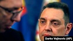 Predsednik Srbije Aleksandar Vučić i ministar odbrane Aleksandar Vulin