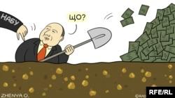 Карикатура Євгенї Олійник