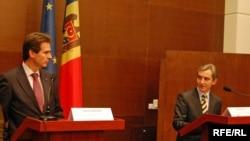 Gunnar Wiegand (UE) şi ministrul de externe Iurie Leancă