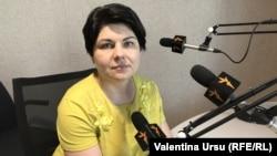Ministra Finanțelor Natalia Gavrilița, în studioul Europei Libere