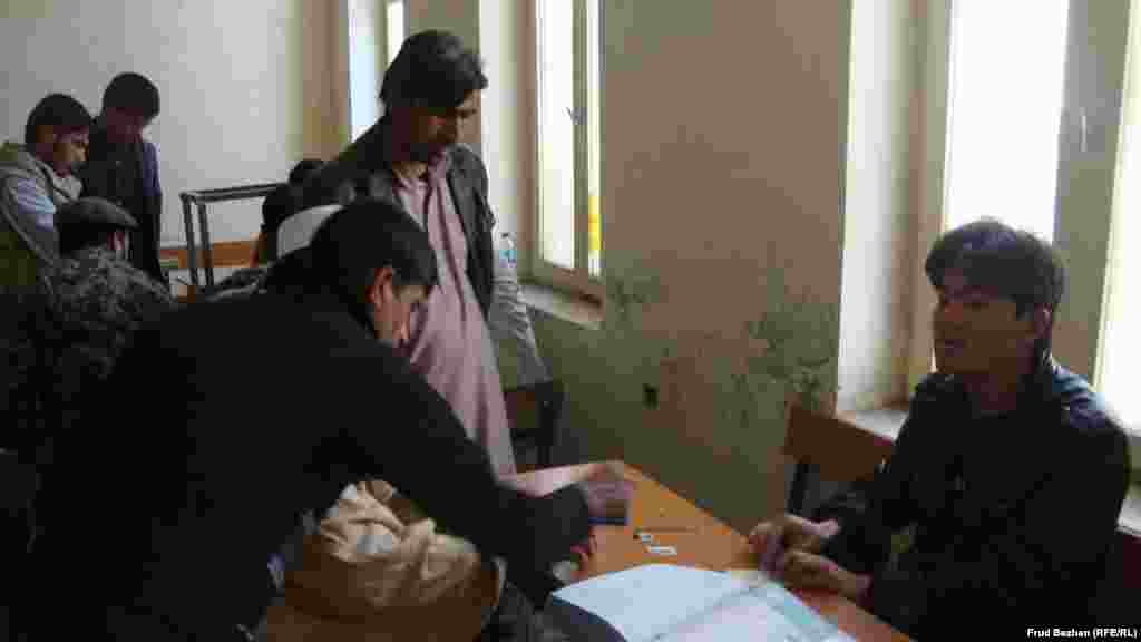 Inside a voter-registration center in Kabul
