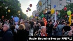 Protestë kundër qeverisë, Shkup, 6 maj 2016