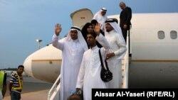 هبوط اول طائرة سعودية في مطار النجف