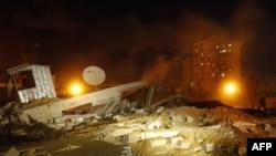 Палестына: сховішча ХАМАС, зьнішчанае ізраільскім авіяўдарам у адказ на ракетны абстрэл ізраільскіх гарадоў, 21 сакавіка, 2011