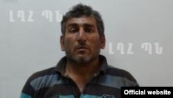 Ձերբակալված ադրբեջանցի դիվերսանտ Շահբազ Գուլիևը, լուսանկարը՝ Լեռնային Ղարաբաղի պաշտպանության նախարարության կայքէջի