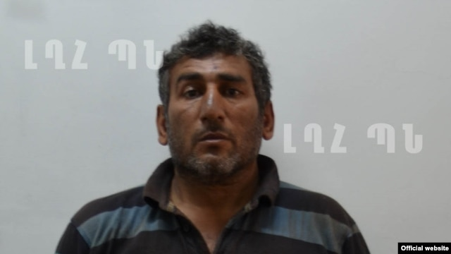 Nagorno-Karabakh - A photo of Shahbaz Quliyev, an Azerbaijani who, according to Karabakh's Defense Ministry, was detained during an attempt of sabotage, Stepanakert, 11Jul,2014