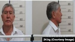 A mugshot of former President Kyrgyz President Almazbek Atambaev that was taken following his arrest on August 8.