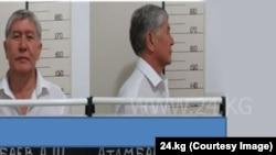 Бывший президент Кыргызстана Алмазбек Атамбаев после его задержания.