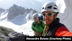 British mountaineers Jon Gupta (right) and Nick Valentine plan to tackle the mountains in the classic alpine style in just 40 days.