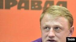Алексей Дымовский на пресс-конференции в Краснодаре