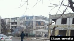 Uzbekistan - multi-storey building after the gas explosion in the city of Andijan, 13Feb2012