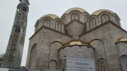 Црковен храм Св Констатин и Елена во центарот на Скопје
