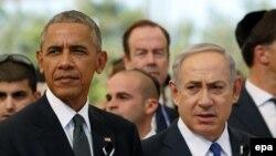 Президент США Барак Обама (л) та прем'єр-міністр Ізраїлю Біньямін Нетаньягу