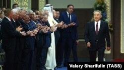 Экс-президент Казахстана Нурсултан Назарбаев прибывает на инаугурацию Касым-Жомарта Токаева. 12 июня 2019 года.
