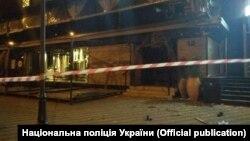 Обстріляна будівля в Печерському районі Києва, 13 квітня 2018 року