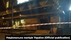An unknown person fired a rocket at a building in the center of Kyiv early on April 13.
