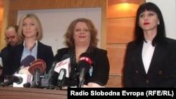 Прес конференција на специјалната јавна обвинителка Катица Јанева во Скопје
