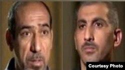 خالد الموسوي وعلي الجبيشات الذين صدر بحقهما حكم الإعدام في الأهواز