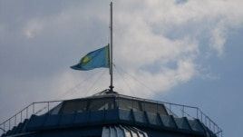 The Kazakh flag was at half-mast atop the national museum and other official buildings on June 5 to honor the dead border troops and ranger.