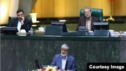 Ali Motahari in the parliament - File photo