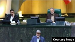 Tehran MP, Ali Motahari, speaking in parliament. File photo