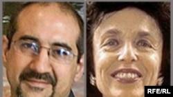 هاله اسفندیاری (راست) و کیان تاجبخش در بازداشت به سر می برند.