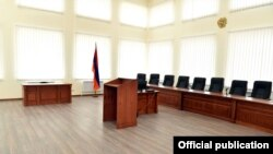 Armenia -- The main meeting room of the Supreme Judicial Council, Yerevan, April 10, 2019.