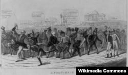Карикатура на президентскую кампанию 1824 года. Художник Дэвид Клейпул Джонстон.