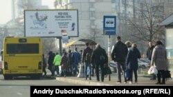Транспортні проблеми на околиці Києва, куди прибувають жителі області, що працюють у столиці, 18 березня 2020 року