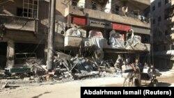 Разрушенная больница «Аль-Хаким» в районе Алеппо.