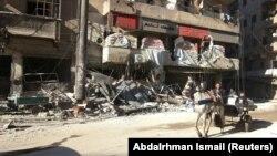 Алеппо, один из жилых кварталов на востоке города, ноября 2016