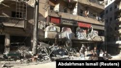 Один из жилых кварталов на востоке Алеппо. 19 ноября 2016 года.