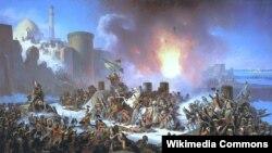 Рус-төрек сугышы (1787-91) -- Очаков камавы, Я.Суходольский рәсеме