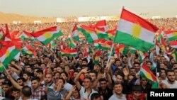 Демонстрація іракських курдів на підтримку референдуму, Духук (Іракський Курдистан), 16 вересня 2017 року