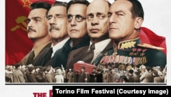 """Afișul filmului """"Moartea lui Stalin""""."""