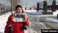 Один из задержанных блогеров Нурали Айтеленов. Алматы, 5 февраля 2014 года.