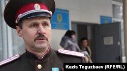 Владимир Шихотов, житель Алматы, называющий себя атаманом «Союзa казаков Семиречья». Алматы, 4 февраля 2015 года.