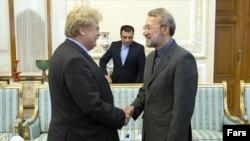 دیدار رئیس کمیسیون سیاست خارجی پارلمان اروپا با علی لاریجانی، رئیس جمجلس ایران