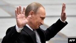 Президент Росії Володимир Путін після щорічної «Прямої лінії». Москва, 14 квітня 2016 року