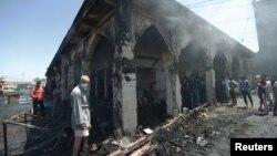 На місці вибуху в Баладі, 8 липня 2016 року