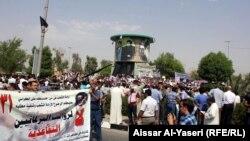 النجف 31آب تظاهرة للمطالبة بالغاء امتيازات البرلمانيين