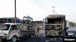 Pamje nga sulmi i djeshëm me bombë në Bagdad