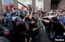 Митинг против недопуска независимых политиков на выборы в Мосгордуму 27 июля 2019 года