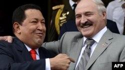 Venezuelan President Hugo Chavez (left) and Belarusian President Alyaksandr Lukashenka in June 2012.