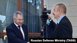 Ռուսաստանի ՊՆ Սերգեյ Շոյգուն հանդիպում է Ադրբեջանի նախագահ Իլհամ Ալիևի հետ, Բաքու, 25 օգոստոսի, 2020թ.